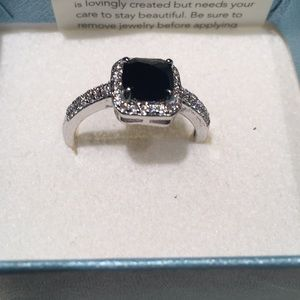 Black stone with crystal surround